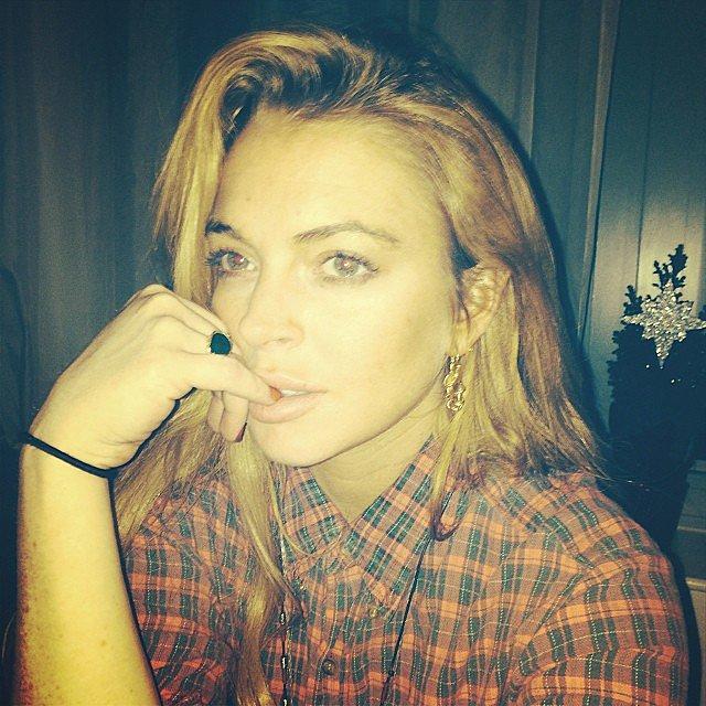 Lindsay-Lohan-said-Joyeux-Noel-Instagram-snap
