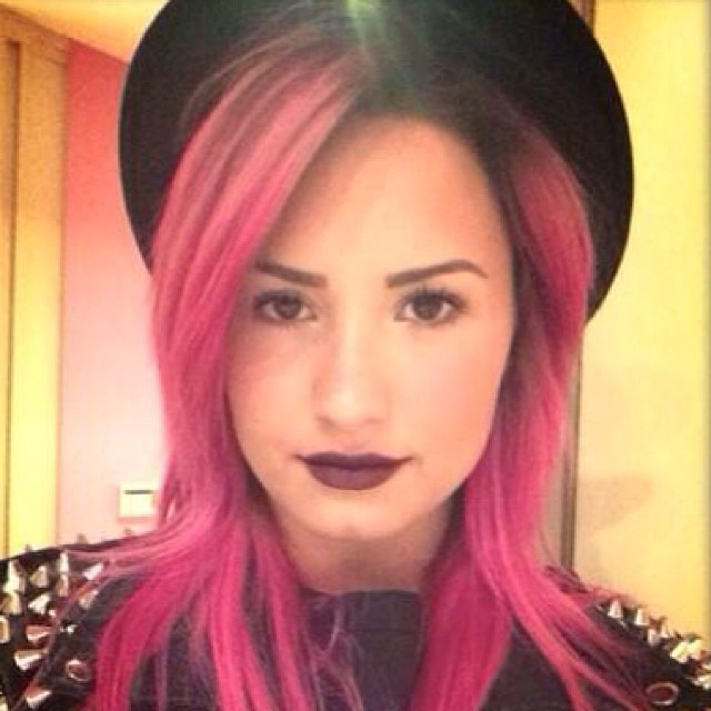 Demi Lovato Finds Her Bright Hair Inspiration on Pinterest