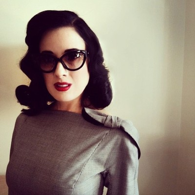 "Dita Von Teese Believes ""Glamour Doesn't Have to be Expensive"""