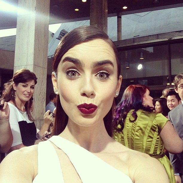 Lily collins makeup routine