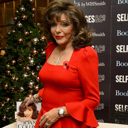 Joan Collins Comments on Her Top Makeup Tips