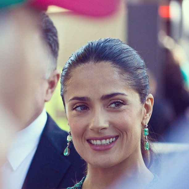 Salma Hayek Shares Her Anti-Aging Beauty Secret & Hair Styling Tips
